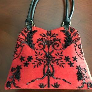 Christiana hand beaded purse / shoulder bag